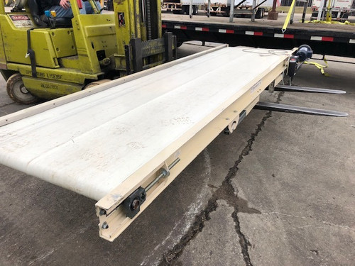 "Plastic Process Equipment 36"" x 148"" Belt Conveyor with Minarik Speed Control"