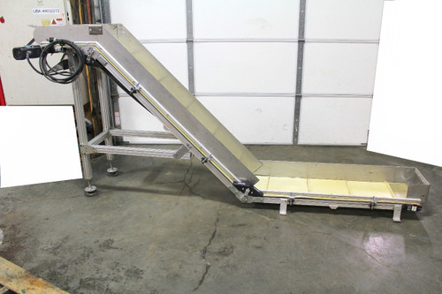 "QC Industries Incline Belt Conveyor 18"" Wide Belt with Oriental Motor 120Vac AS40-Z"