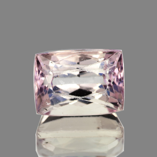 11x8 mm Cushion 4.32cts Sparkling Luster Natural Very Soft Pink Kunzite [VVS]