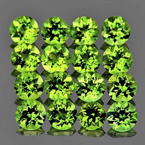 3.00 mm Round 25 pcs Natural Superb Brilliancy Green Peridot [Flawless-VVS]