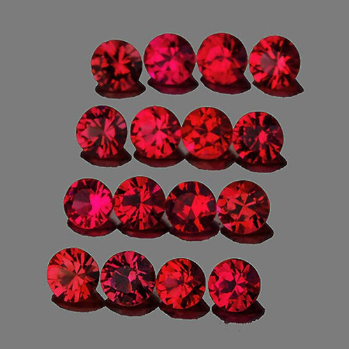 1.90 mm Round 30 pieces Machine Cut Natural AAA Red Mogok Spinel [Flawless-VVS]