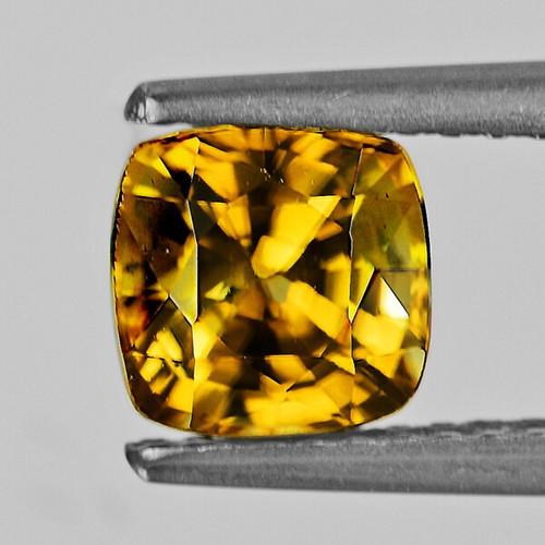 6.00 mm Cushion 2.08cts Natural Intense Golden Yellow Zircon [Flawless-VVS]