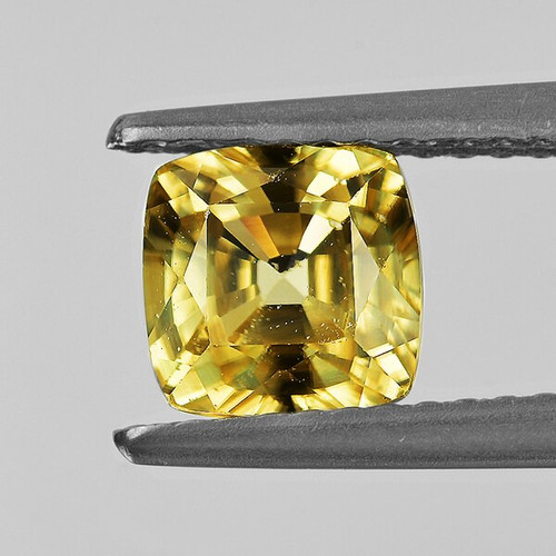 6.10 mm Cushion 2.16cts Natural Brilliant Yellow Zircon [Flawless-VVS]