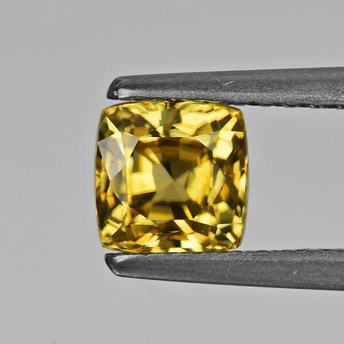 5.20 mm Cushion 1.46cts Natural Brilliant Golden Yellow Zircon [Flawless-VVS]