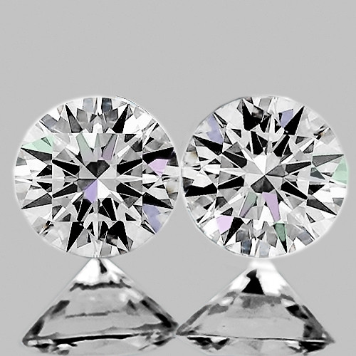 2.00 mm Round 2pcs Color D-F White Diamond [VVS]-AAA GRADE