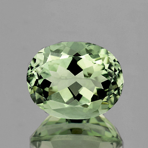 12x10 mm Oval 1 piece Natural Light Green Amethyst [Flawless-VVS]