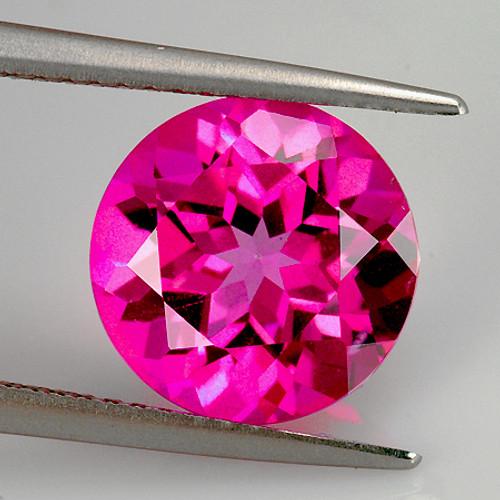 12.00 mm Round 1 piece Natural Hot Pink Topaz [Flawless-VVS]-AAA Grade