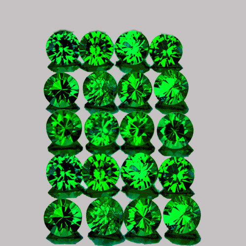 1.80 mm Round 30 pcs Natural Sparkling Emerald Green Tsavorite Garnet [VVS]