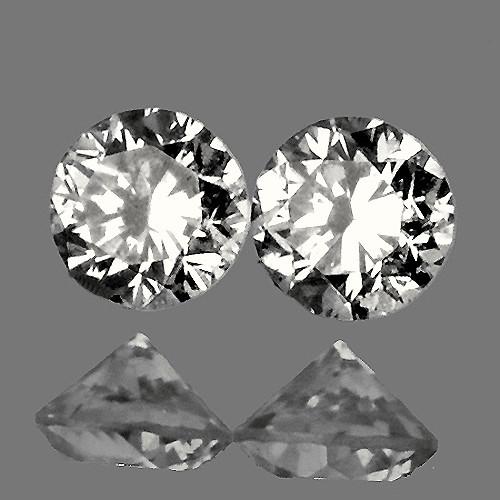 3.50 mm Round 2 pieces Color I-K White Diamond [VS-SI]