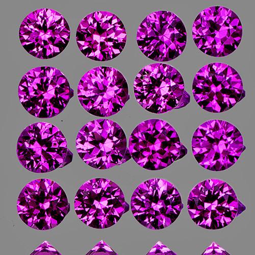 2.30 mm Round 16pcs Superb Luster Natural Velvet Purple Sapphire [Flawless-VVS]-AAA Grade