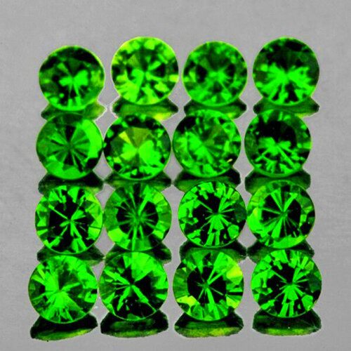 2.00 mm Round 25 Pieces AAA Fire Natural Unheated Chrome Green Diopside [Flawless-VVS]