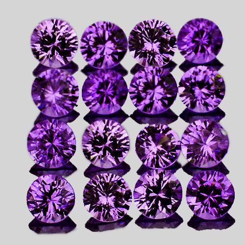 2.40 mm Round Machine Cut 16pcs Natural Purple Sapphire [IF-VVS] {Unheated AAA Grade}