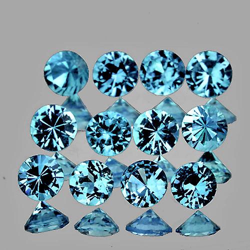 2.70 mm  Round 12 pieces Extreme Brilliancy Natural Santa Maria Blue Aquamarine [Flawless-VVS]-AAA Grade