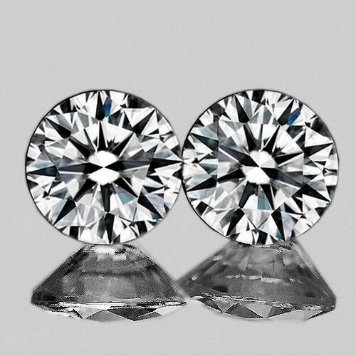 3.00 mm Round 2pcs Color D-F White Diamond [Flawless-VVS]-AAA GRADE
