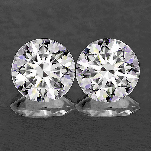 2.80 mm Round 2pcs Color D-F White Diamond [Flawless-VVS]-AAA GRADE