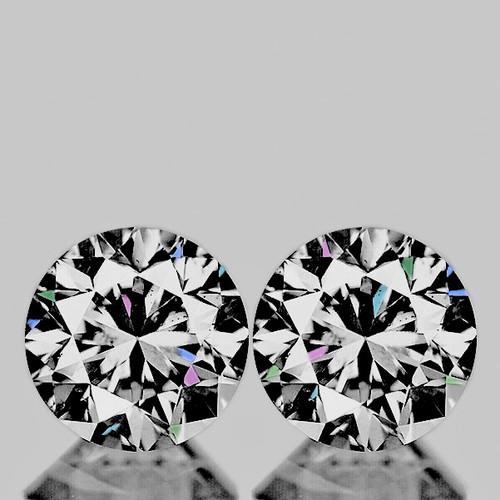 3.20 mm Round 2pcs Color D-F White Diamond [Flawless-VVS]-AAA GRADE