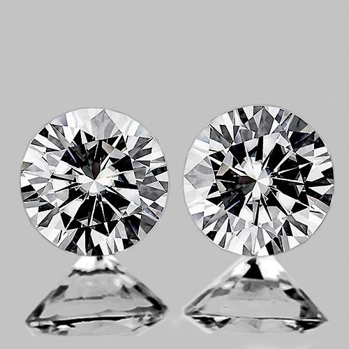 2.90 mm Round 2pcs Color D-F White Diamond [Flawless-VVS]-AAA GRADE