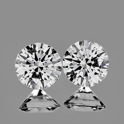 2.70 mm Round 2pcs Color D-F White Diamond [Flawless-VVS]-AAA GRADE