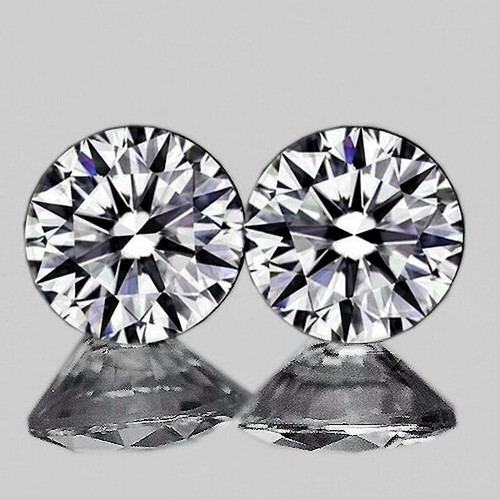 2.50 mm Round 2 pieces Color D-F White Diamond [VVS]-AAA GRADE