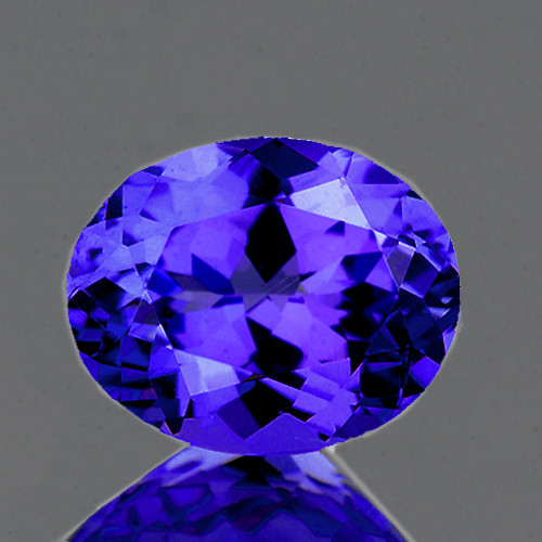8x6 mm Oval 1.66cts AAA Fire Luster Natural Brilliant Purple Blue Tanzanite [Flawless-VVS]-AAA Grade-{Free Certificate}