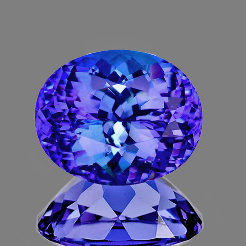 8x6 mm Oval 1.75cts AAA Fire Luster Natural Brilliant Intense Purple Blue Tanzanite [Flawless-VVS]-AAA Grade-{Free Certificate}