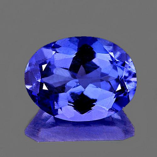 8x6 mm Oval 1.41cts AAA Fire Luster Natural Brilliant Intense Purple Blue Tanzanite [Flawless-VVS]-AAA Grade