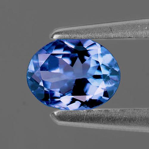 7x5 mm Oval 0.66cts AAA Fire Luster Natural Brilliant Denim Blue Tanzanite [Flawless-VVS]-AAA Grade