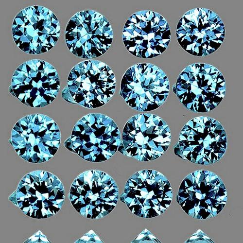 1.20 mm Round Machine Cut 100 pieces Natural Greenish Blue Sapphire [Flawless-VVS]