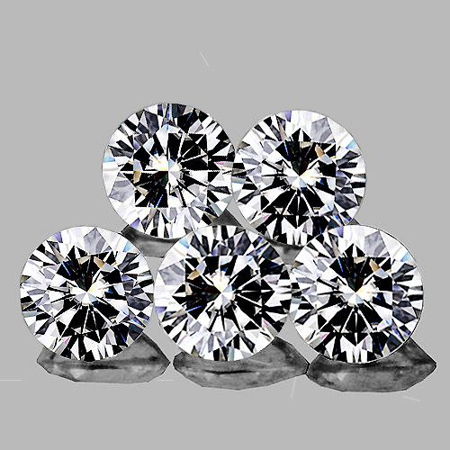 1.70 mm Round 5 pieces Color D-F White Diamond [VVS]-AAA GRADE
