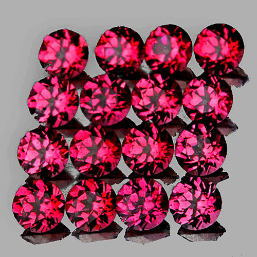 2.00 mm Round 60 pieces Top Luster Natural Intense Raspberry Pink Rhodolite[Flawless-VVS]