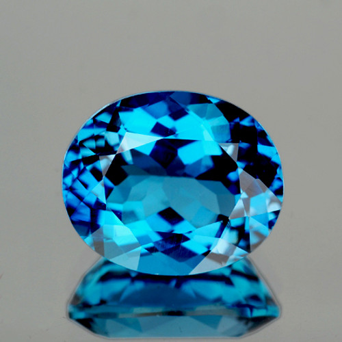 9x7 mm Oval 2.48cts AAA Fire Luster Natural London Blue Topaz [Flawless-VVS]