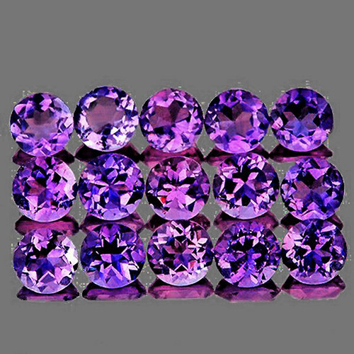 3.00 mm Round 30 pieces Brilliant Fire Luster Natural Purple Amethyst [Flawless-VVS]