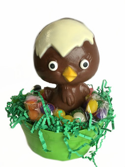 Doris the Hollow Hatching Chocolate Easter Chick