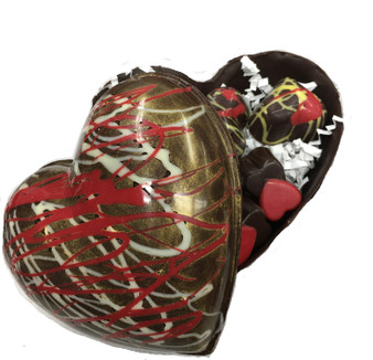 Hand made Puffy Heart Filled with our own Truffles