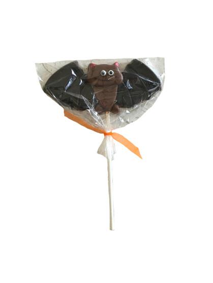 Cute Happy Bat Chocolate Lollipop