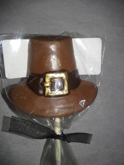 Chocolate Pilgrim Hat Lollipop