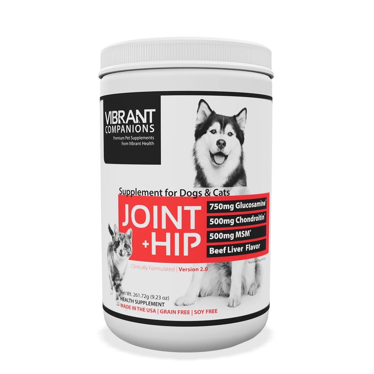 VIBRANT HEALTH® - VIBRANT COMPANIONS Joint + Hip | Pet - Health Supplement