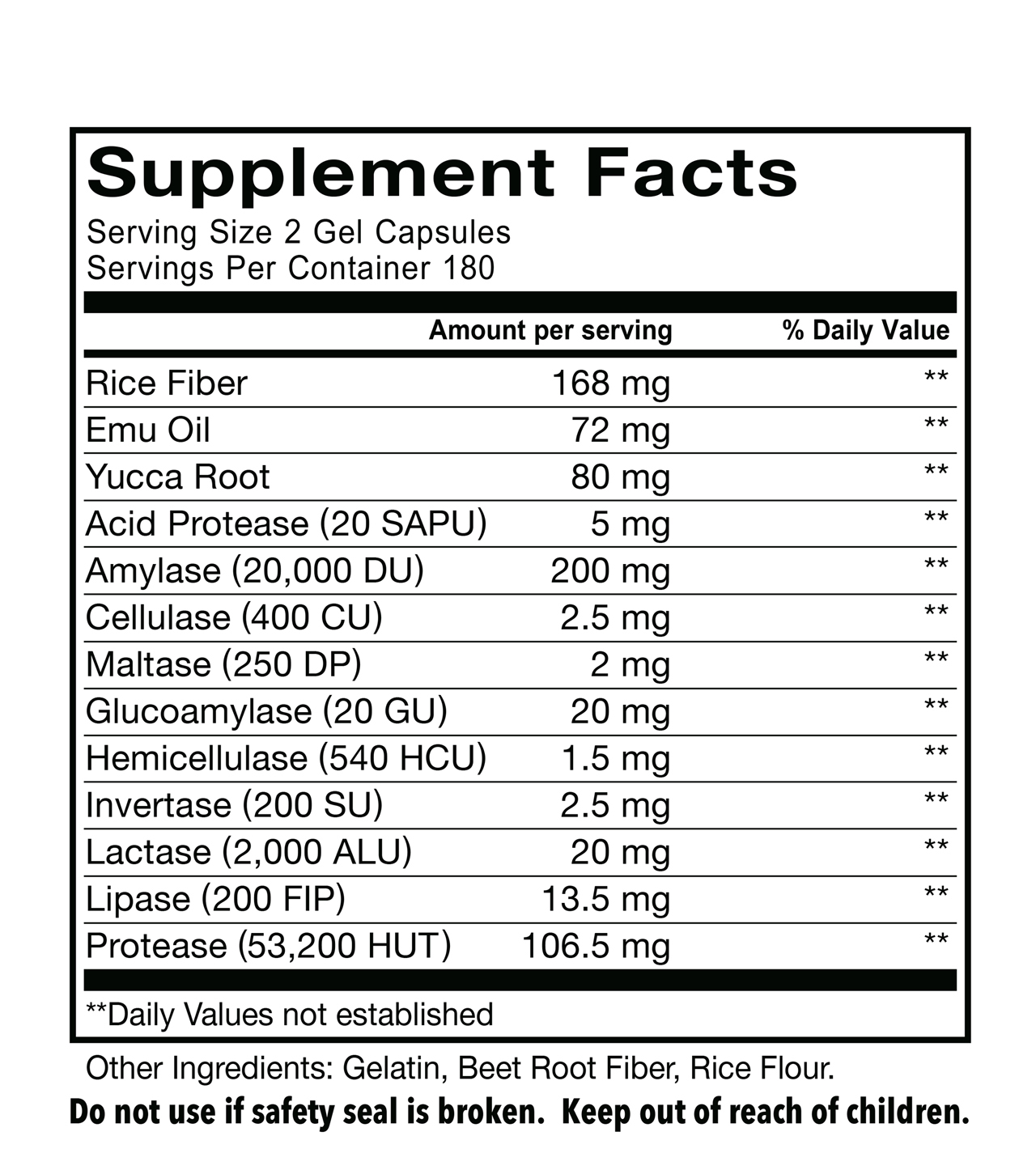 EMUTRIENTS'Ñ¢ en'zym by Montana Emu Ranch-360 mg Gel Capsules-360 ct