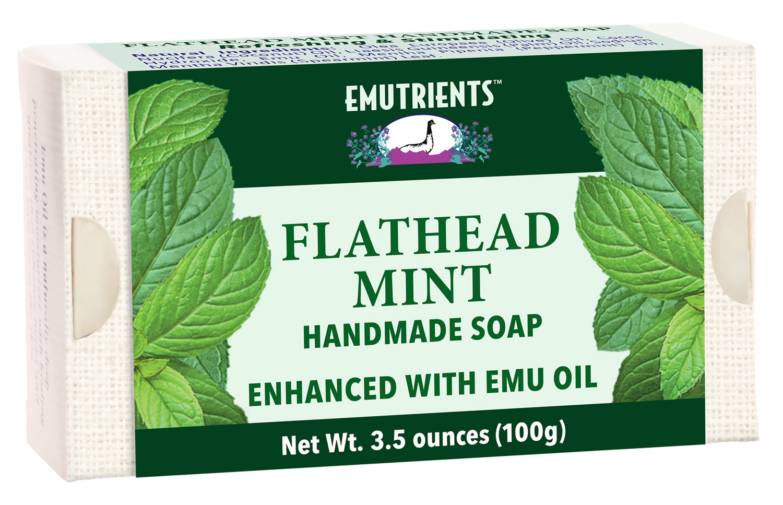 EMUTRIENTS™ Flathead Mint Handmade Soap!