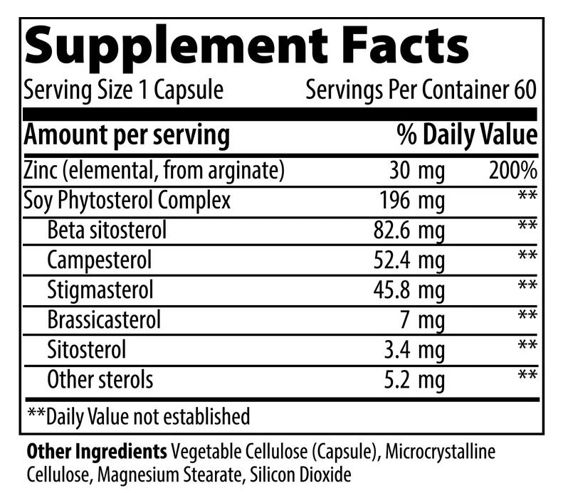 VIBRANT HEALTH A Man's Zinc - 60 capsules