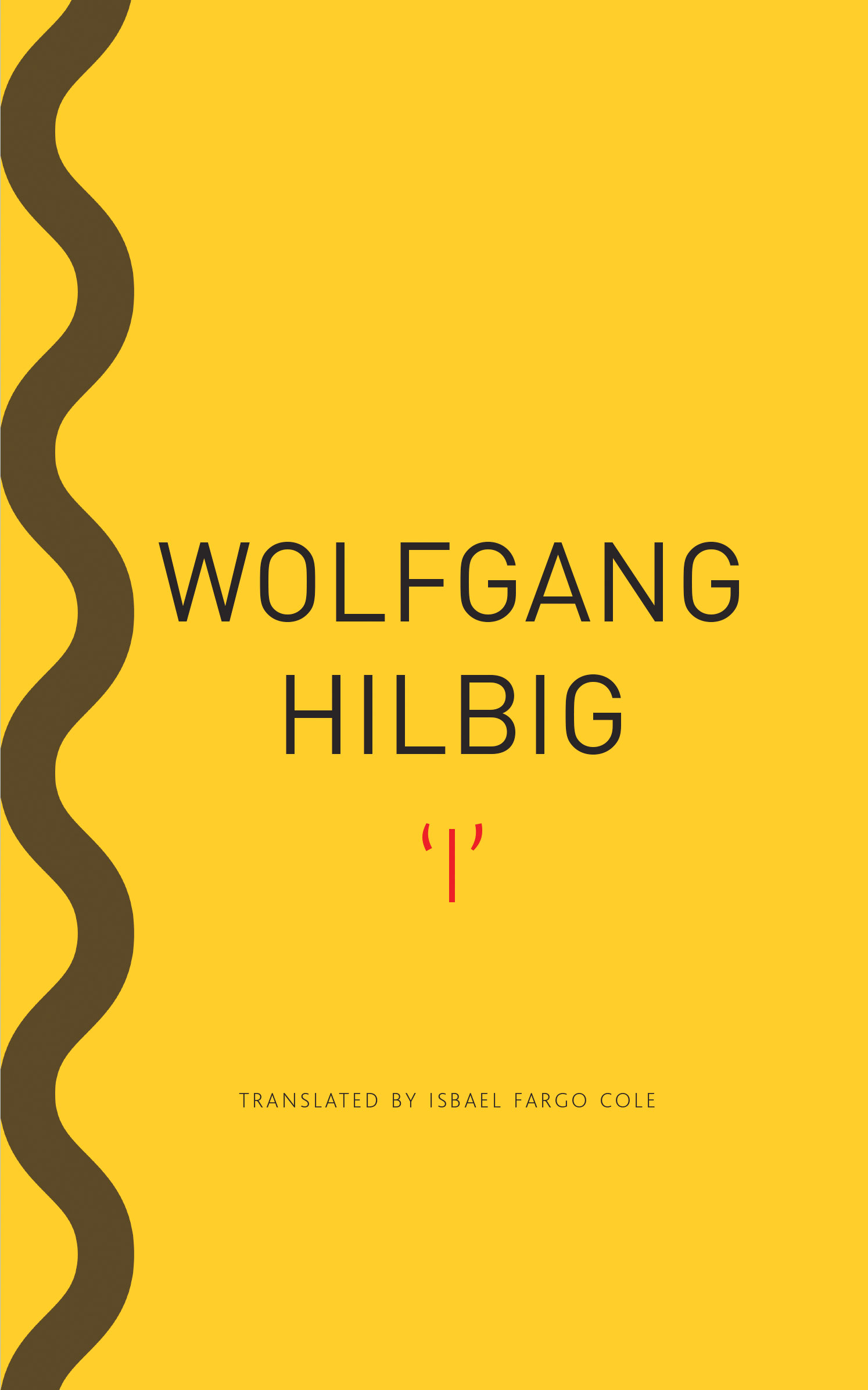 'I' by Wolfgang Hilbig | Seagull Books