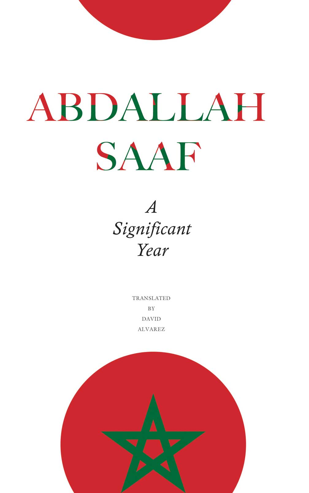 A Significant Year by Abdallah Saaf |  Seagull Books