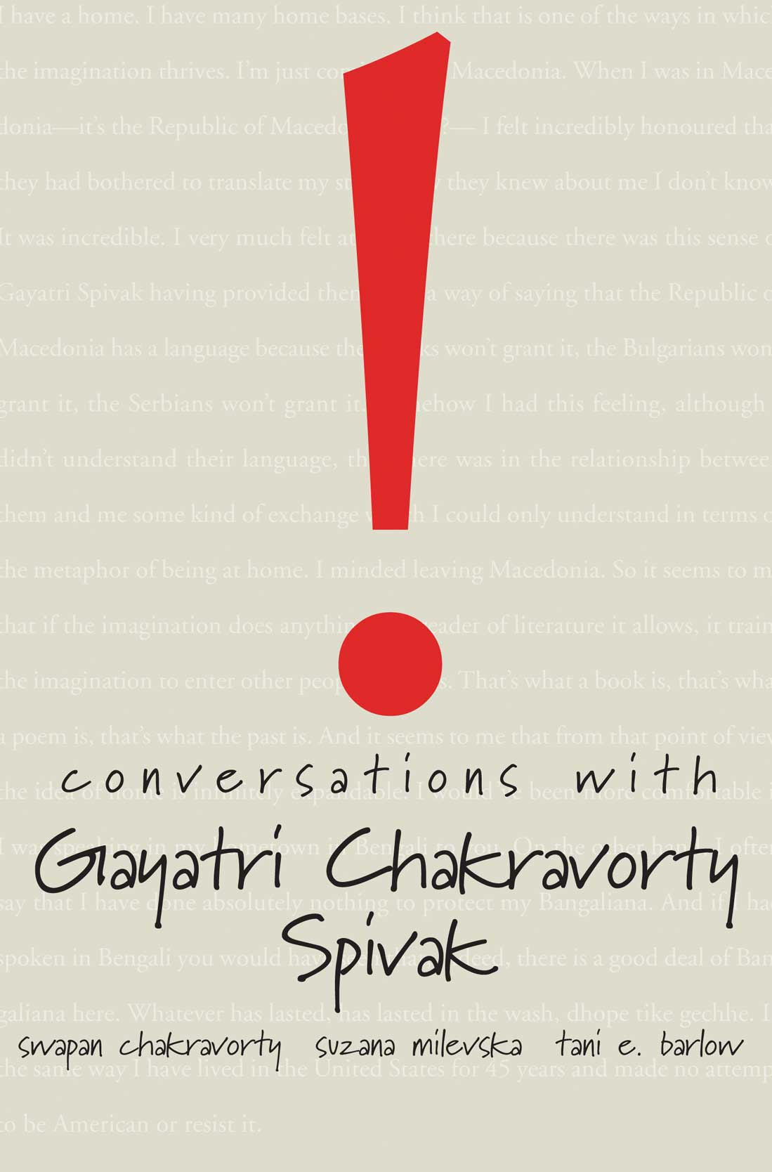 Conversations with Gayatri Chakravorty Spivak by Gayatri Chakravorty Spivak | Seagull Books