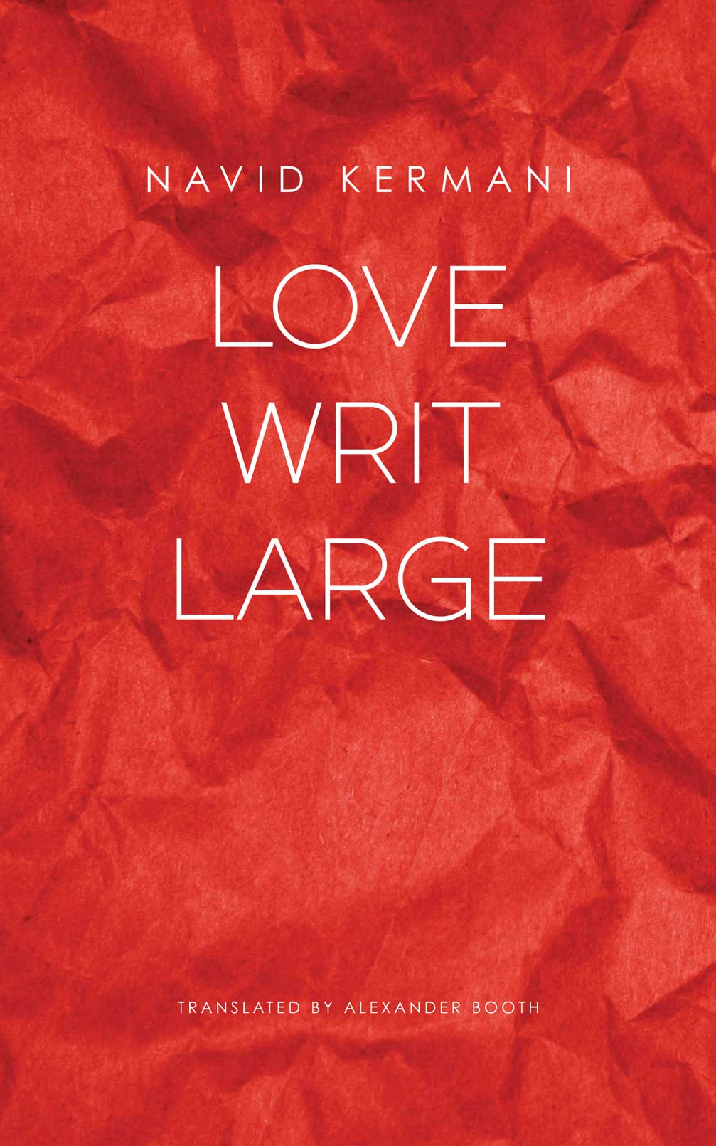 Love Writ Large by Navid Kermani | Seagull Books