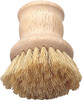 HIC Natural Bristle Vegetable and Dish Brush with Handle