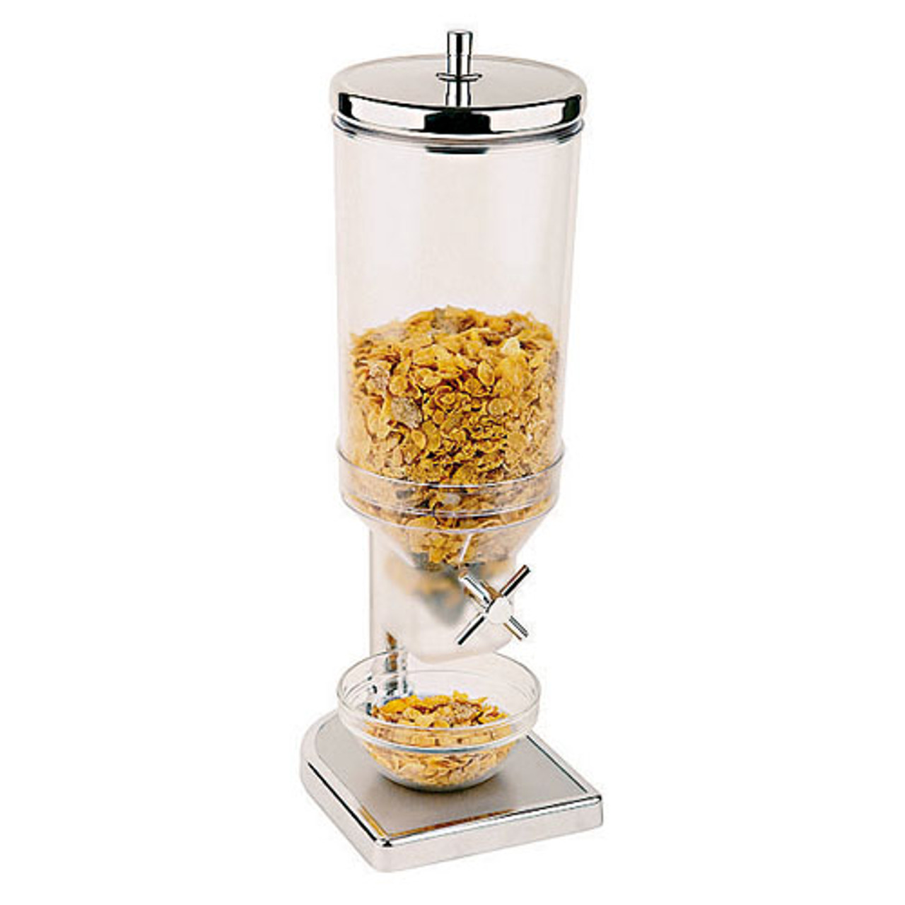 4.7 Quart Polypropylene Cereal Dispenser with S/S Lid, L 8.625 x W 13.875 x H 20.5