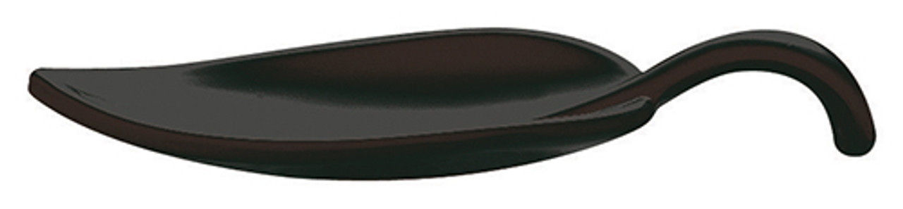 Leaf Appetizer Spoon, Melamine, Black