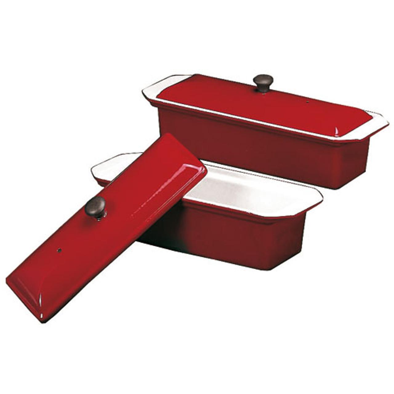 """Red Pate Terrine Mold, L 9 7/8"""" X W 3 3/8"""" X H 2 3/4"""