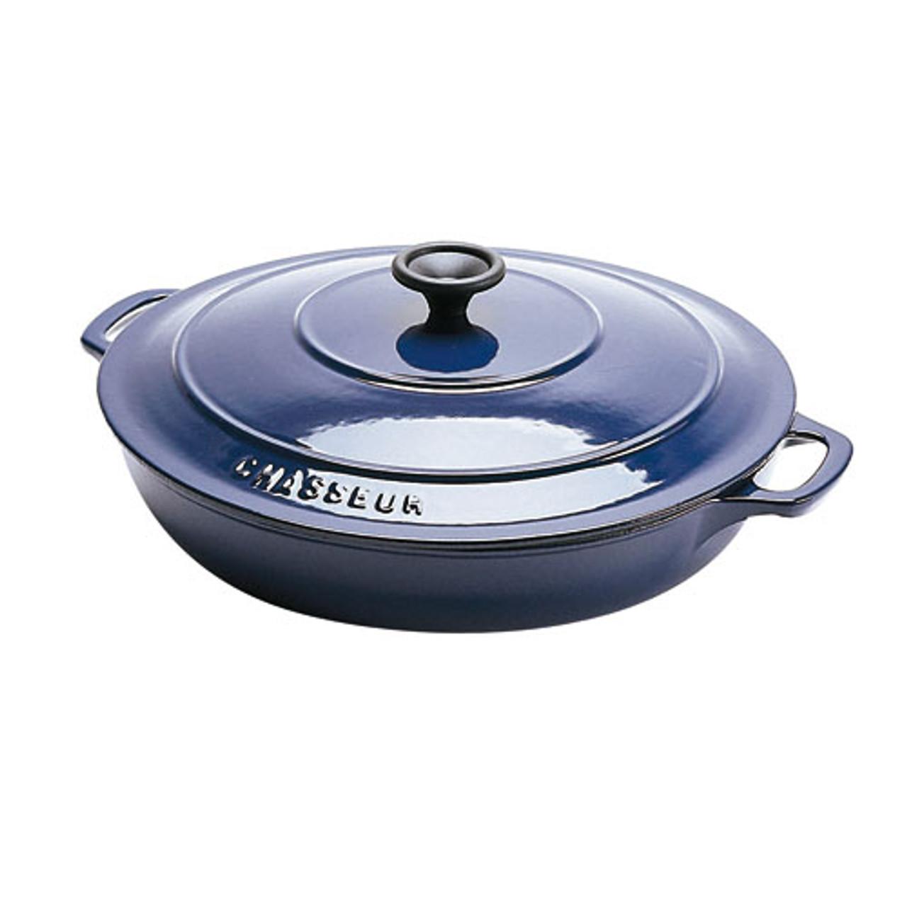 """Black Round Rondeau Pan, DIA 11 1/2"""" X H 2 1/4"""", 3 QTS"""