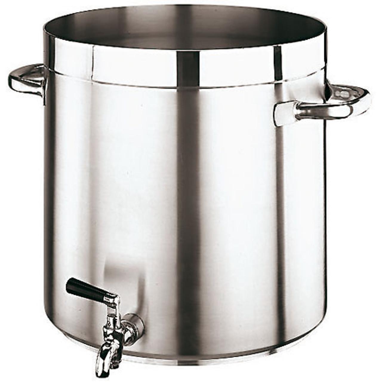 """Gd Gourmet Faucet Stock Pot, DIA 17 3/4""""XH 17 3/4""""  74QT"""